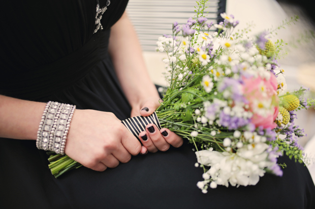 Black & White Stripes With Contrasting Floral Theme Real Weddng (6)