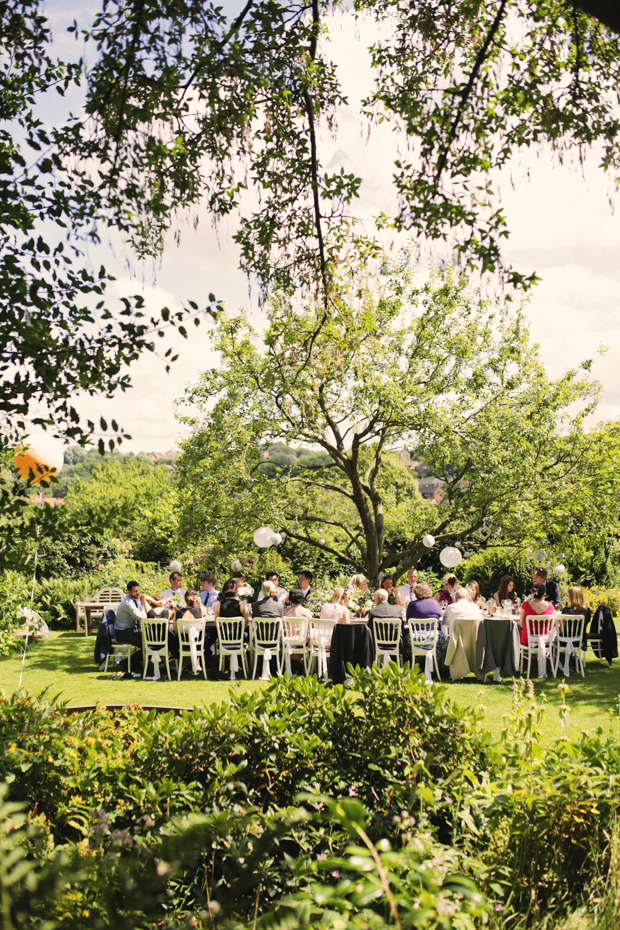 Black & White Stripes With Contrasting Floral Theme Real Weddng (60)
