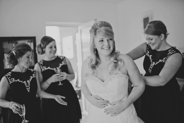 Black & White Stripes With Contrasting Floral Theme Real Weddng (7)