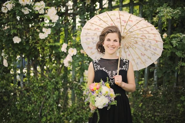 Black & White Stripes With Contrasting Floral Theme Real Weddng (77)