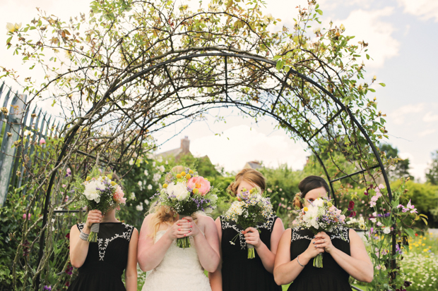 Black & White Stripes With Contrasting Floral Theme Real Weddng (79)