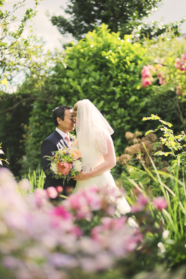 Black & White Stripes & Pretty Floral, Secret Garden Wedding: Carolyn & Hid