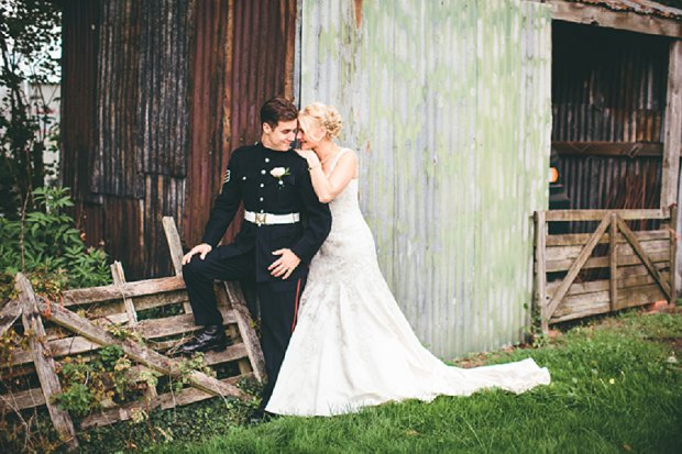 Country Rustic Chic Military Real Wedding: Charmaine & Sam