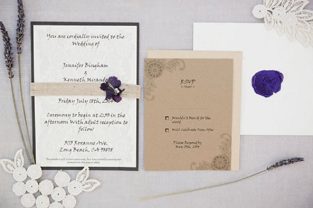 Pretty California Home Wedding With Accents of Purple & Lilac