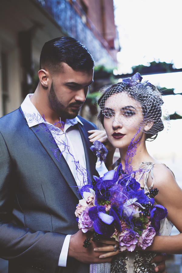 Velvet Orchid Styled Wedding Shoot: Accents of Purple