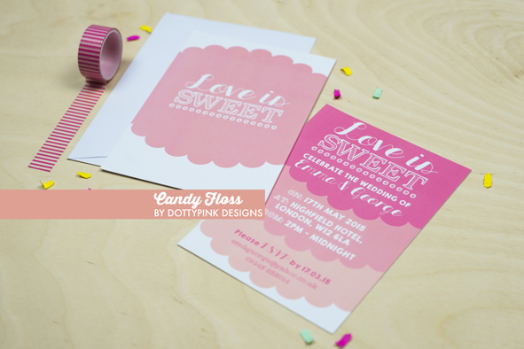 Dottypink Designs: Off The Peg Wedding Stationery Collection