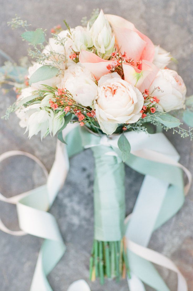 Peach Mint Blue Wedding Ideas Inspiration