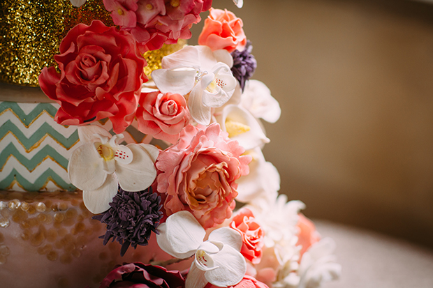 mint green, coral and gold real wedding (101)