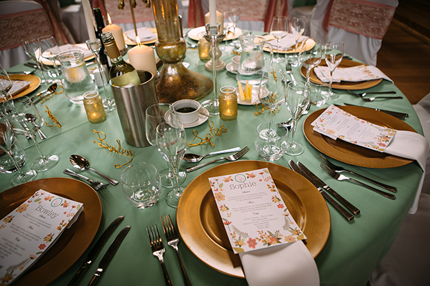mint green, coral and gold real wedding (104)