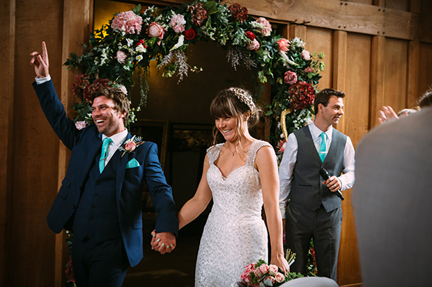 mint green, coral and gold real wedding (109)