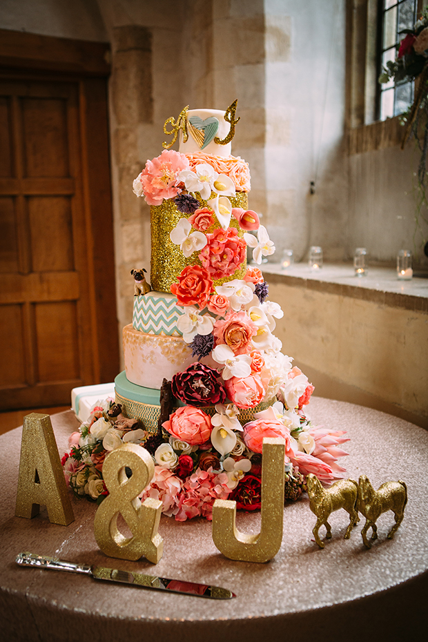 mint green, coral and gold real wedding (127)