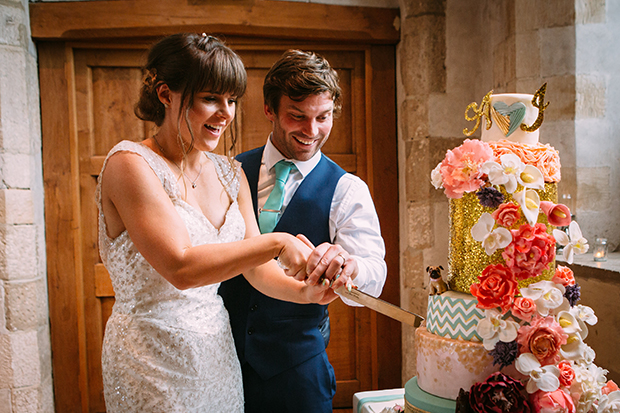 mint green, coral and gold real wedding (142)