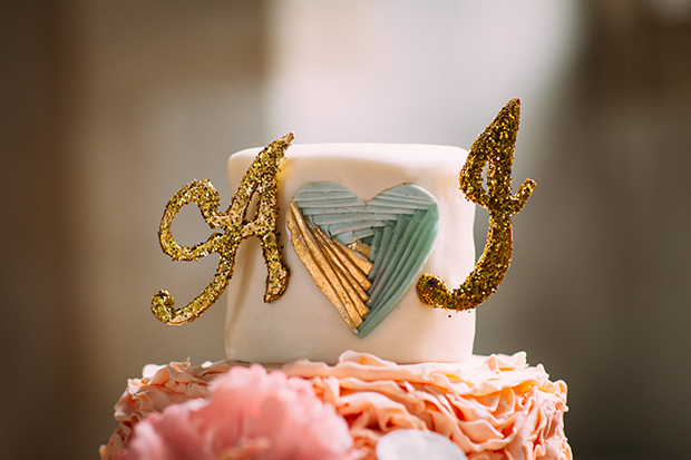 mint green, coral and gold real wedding (144)