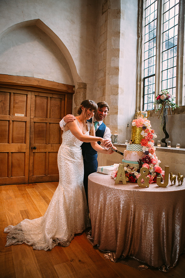 mint green, coral and gold real wedding (146)