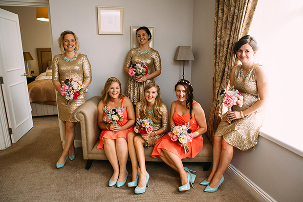 mint green, coral and gold real wedding (20)