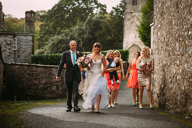 Mint Green, Coral & Gold Sequins Real Wedding: Jayne & Andy