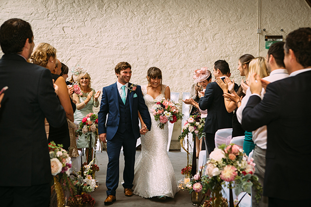 mint green, coral and gold real wedding (56)