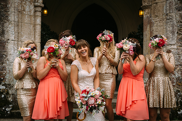 mint green, coral and gold real wedding (73)