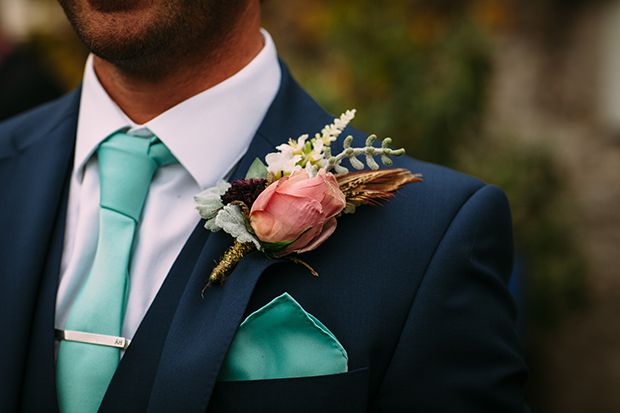 mint green, coral and gold real wedding (76)