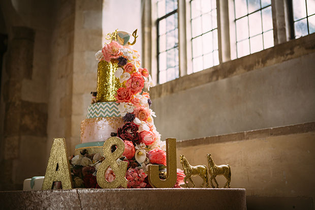 mint green, coral and gold real wedding (99)