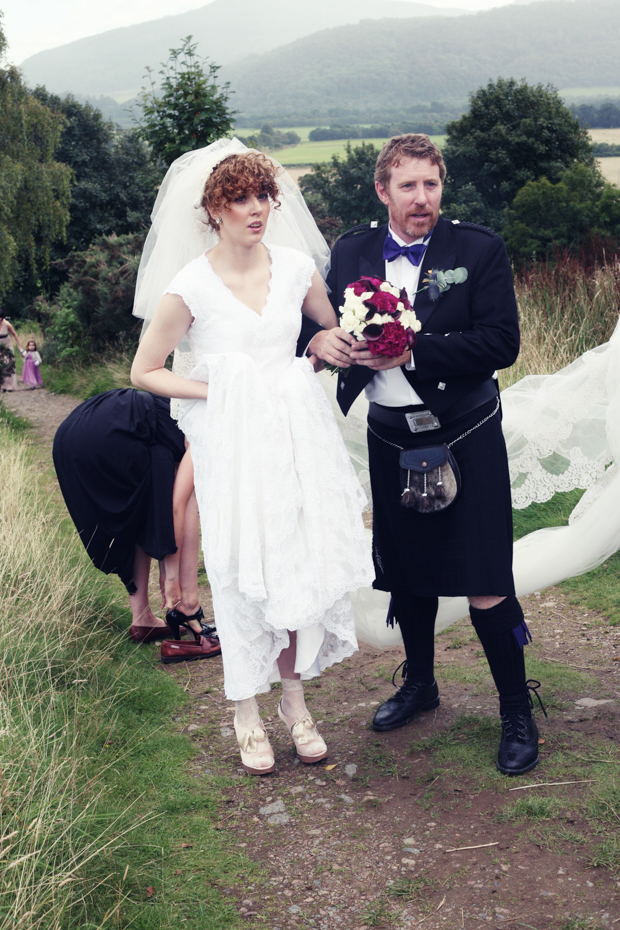 Pinterest Inspired Scottish Wedding With Fashion Designer Bride