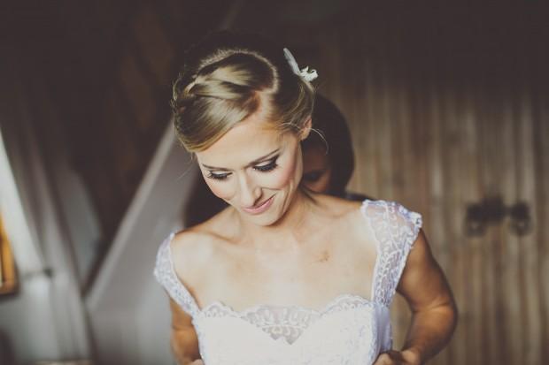 Pretty Peach & Mint! An Elegantly Rustic Wedding With A Wolf Monogram: Ryan & Kerran