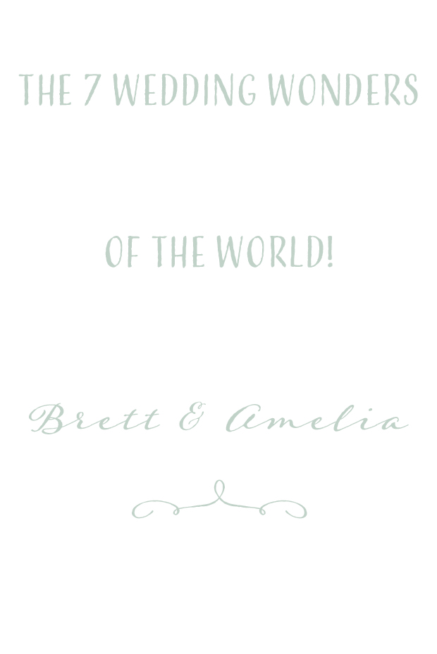 The 7 Wedding Wonders of The World! Brett & Amelia