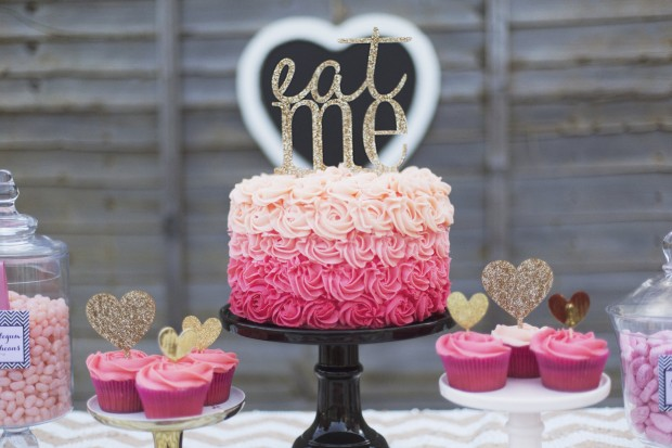 Pink + Gold Valentine's Day Celebration Inspiration