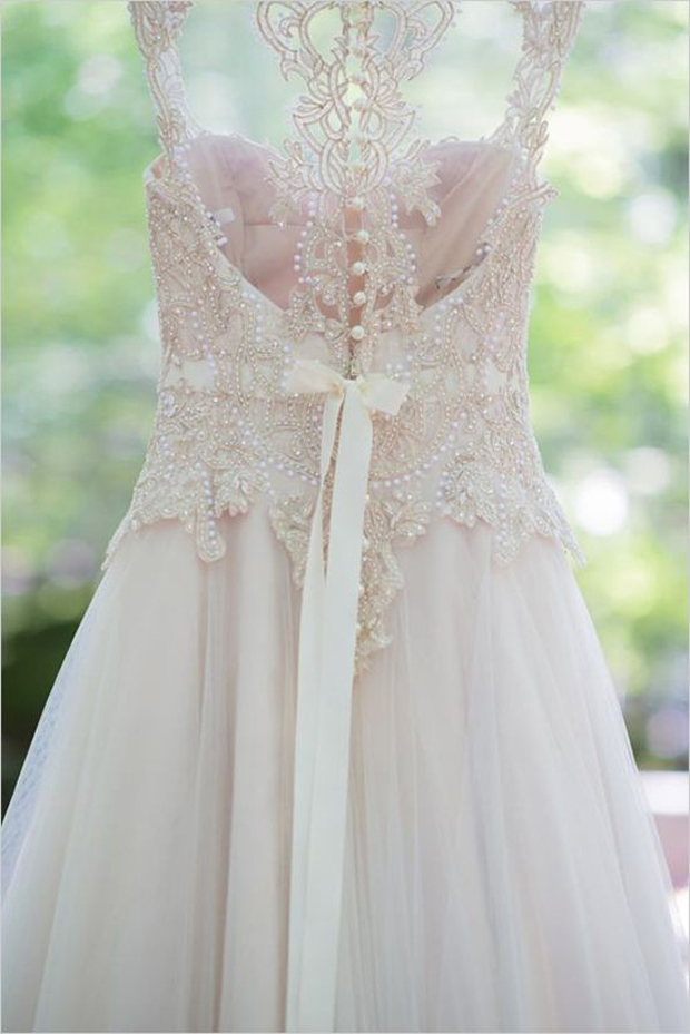 Blush Low Back Wedding Dress : Blush pink coral red my valentine wedding inspiration