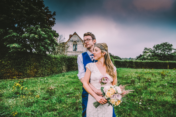 Relaxed Pretty Pastel Wedding With Claire Pettibone Gown: Mary & David