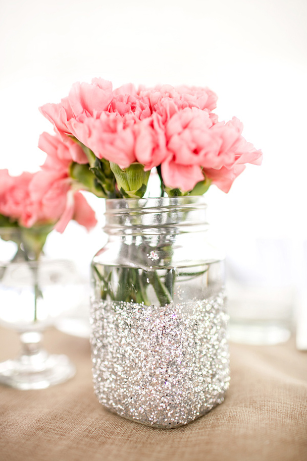diy glitter jar for weddings