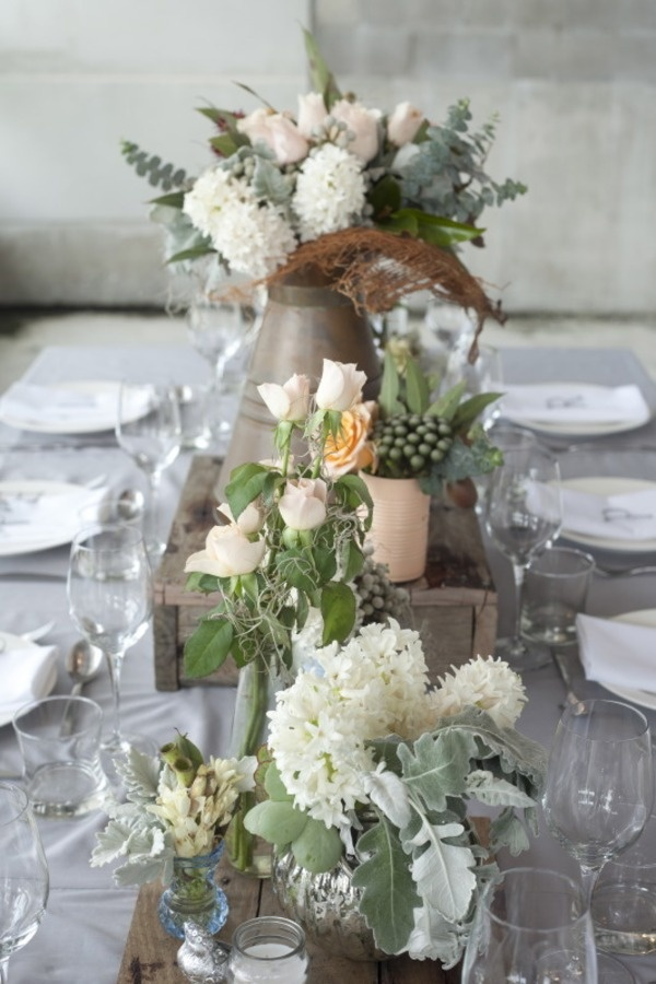 industrial chic wedding decor