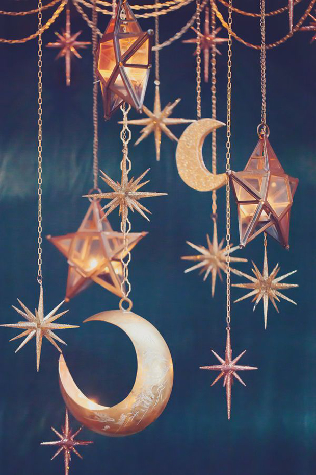 moon and stars wedding decorations