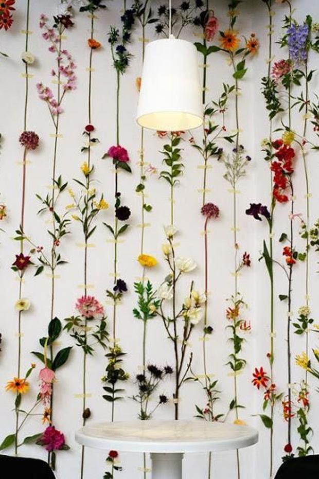washi tape minimal floral backdrop