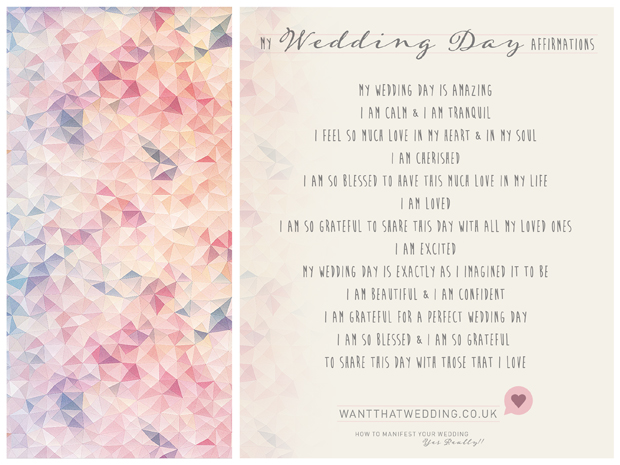 How to manifest your wedding day, yes really!!