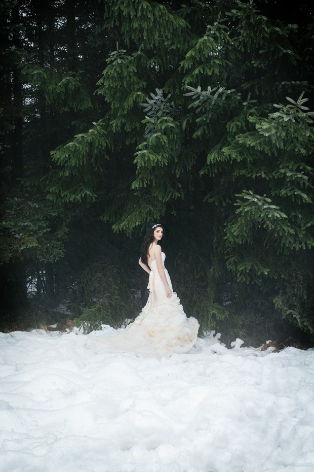 Magical Snow White & Pretty Blush Wedding Inspiration
