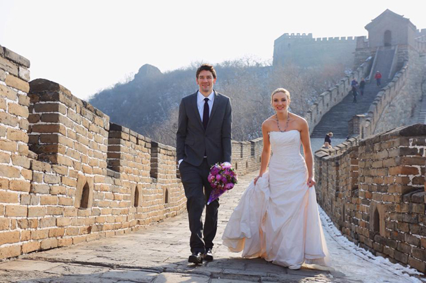 Brett & Amelia's World Wedding Tour The Great Wall of China, Beijing (1)