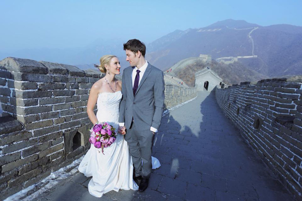 Brett & Amelia's World Wedding Tour The Great Wall of China, Beijing (2)