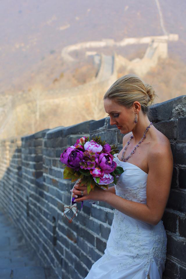 Brett & Amelia's World Wedding Tour The Great Wall of China, Beijing (3)