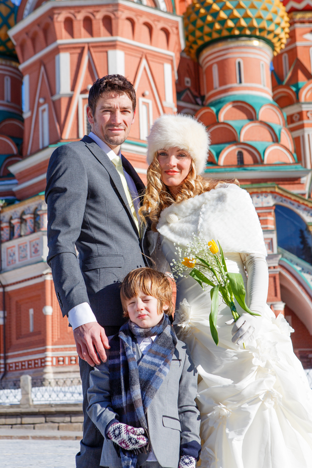 Brett & Amelia's World Wedding Tour The Kremlin, Moscow (3)