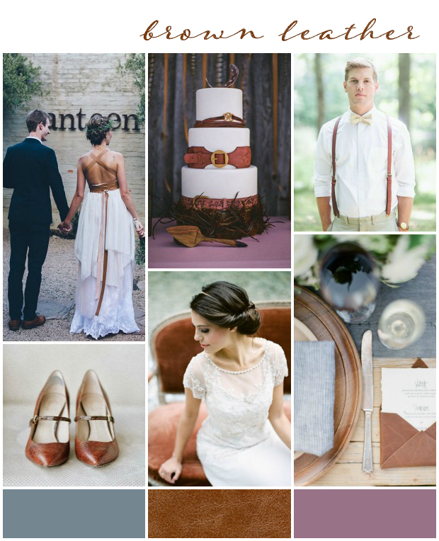 Brown Leather Wedding Inspiration