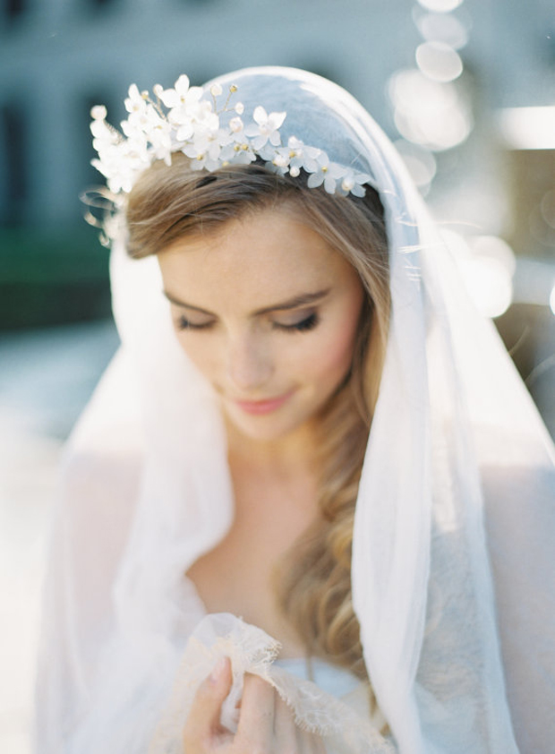 Cascade wedding veil