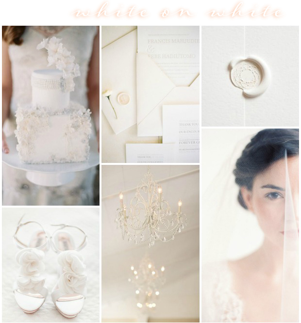 White on white wedding