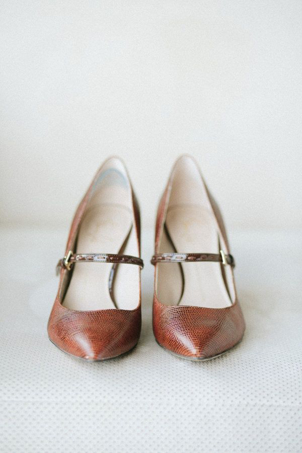brown leather wedding shoes