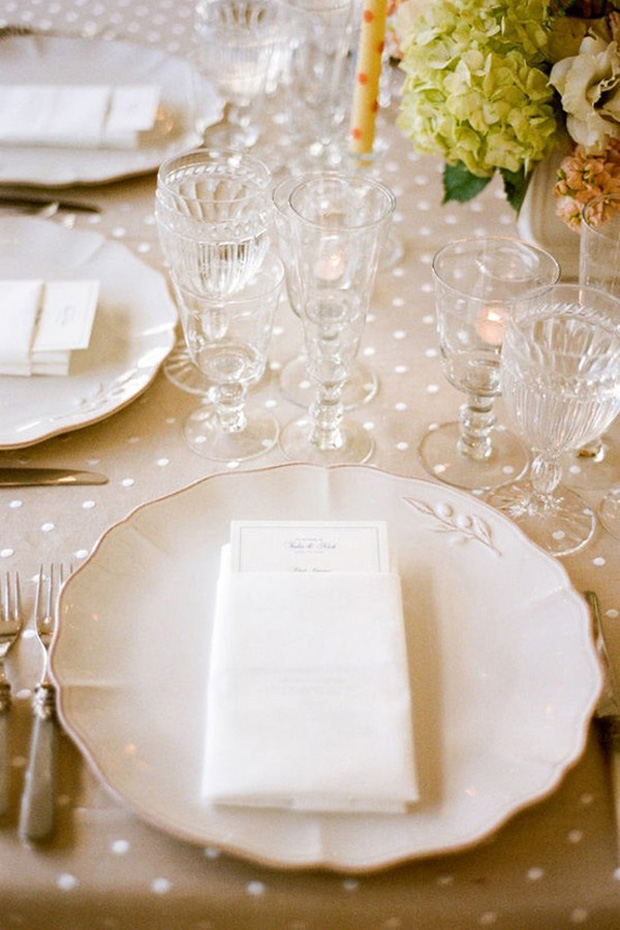 polka dot wedding table cloth