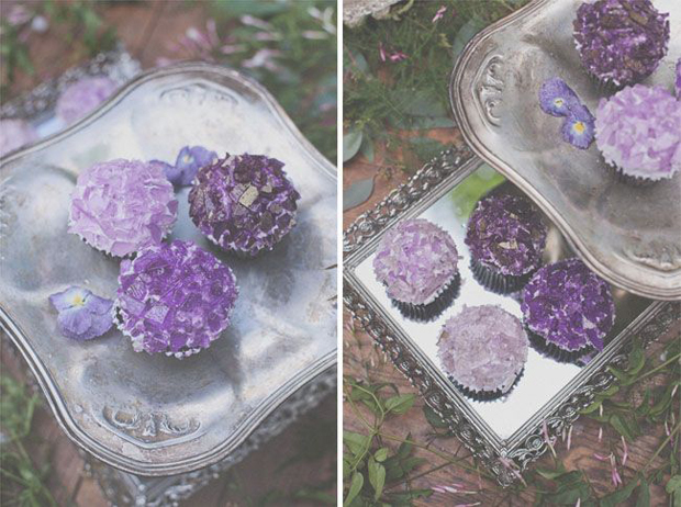 quartz inspired wedding cupcakes
