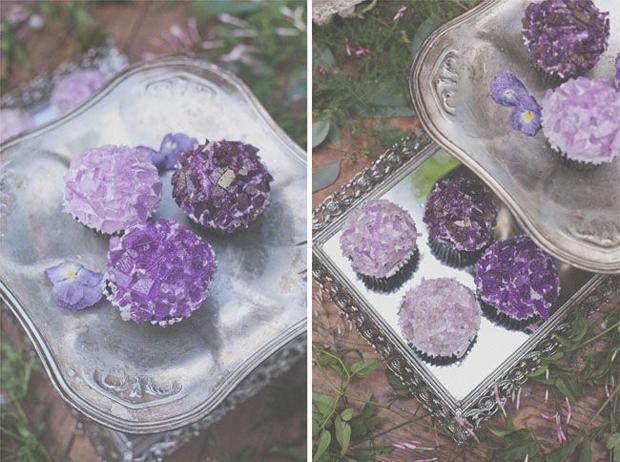 quartz inspired wedding cupcakes