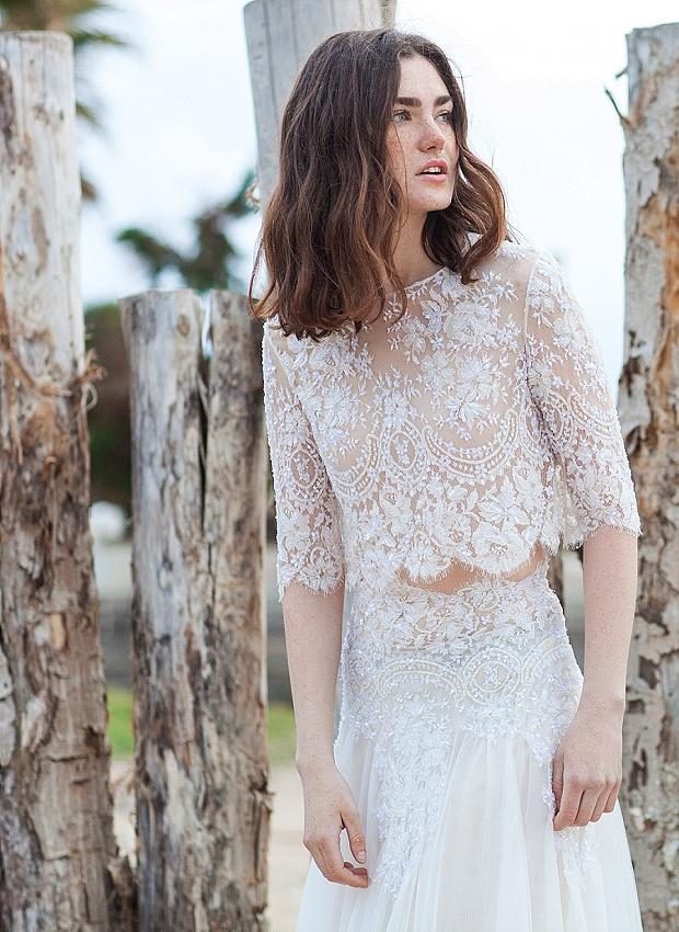 b6ef75df9d1 Chic   Daring Boho Wedding Dresses  Costarellos Bridal 2016!