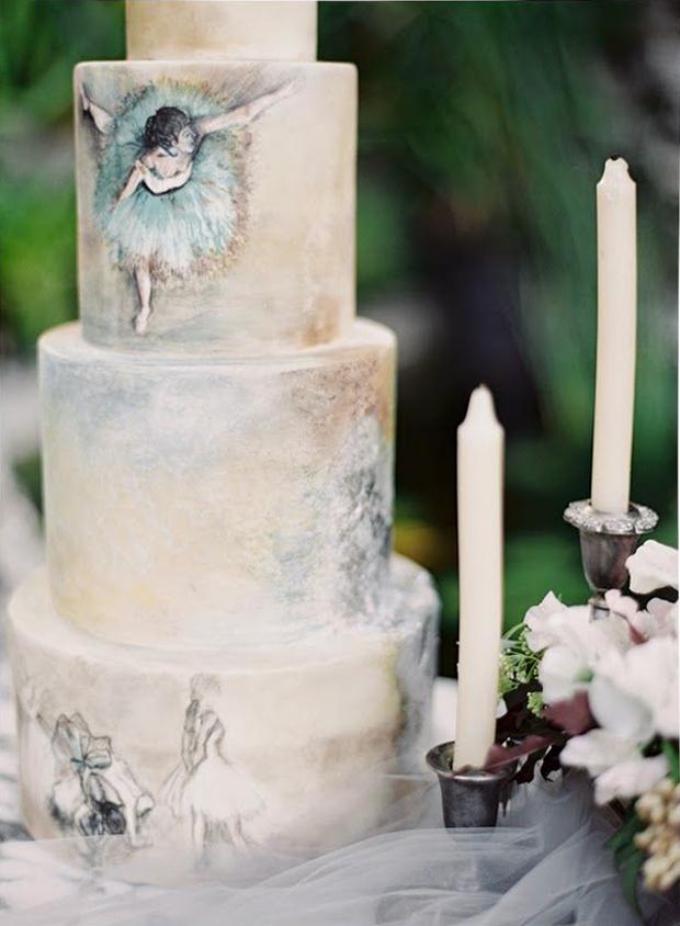 Elegant Ballerina Cake Wedding Inspiration & Ideas