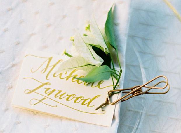 Elegant Calligraphy Wedding Inspiration & Ideas